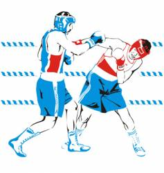 Boxing color vector