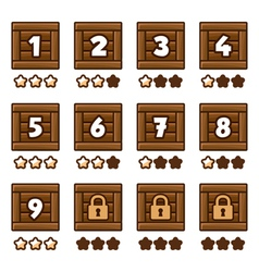 Wooden level selection 2 vector