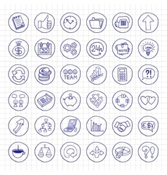 Hand drawn business set of buttons vector