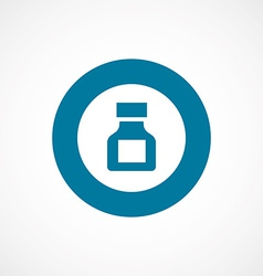 Drugs bold blue border circle icon vector