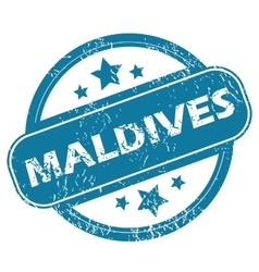 Maldives round stamp vector