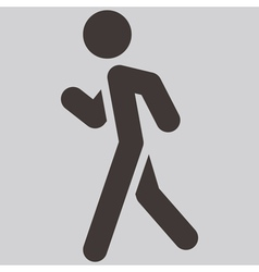 Heel and toe walk vector