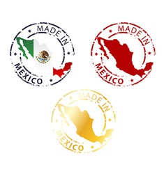 Made in mexico stamp vector