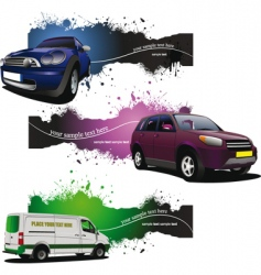 Car banners vector
