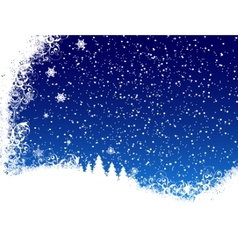Christmas blue background from snow vector