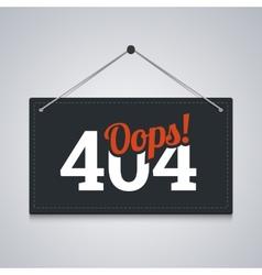404 sign for website server error vector