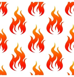 Leaping fiery flames seamless pattern vector