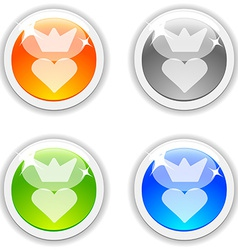 Queen buttons vector