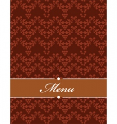 Floral filigree menu vector