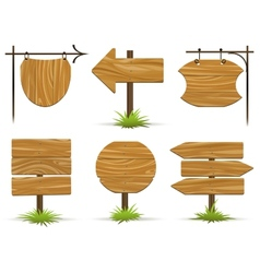 Wooden pointers and signs vector