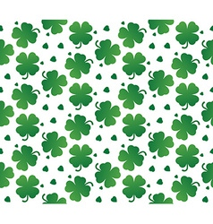 Bright seamless texture of leaves clover vector