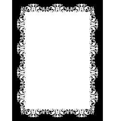 Frame white vector