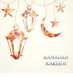 Ramadan greeting card design element vector
