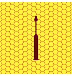 Screwdriver tool icon symbol flat modern web vector