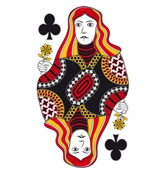 Queen of clubs no card vector