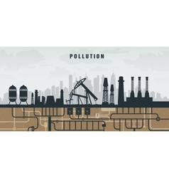 Pollution of the environment by plants oil and vector