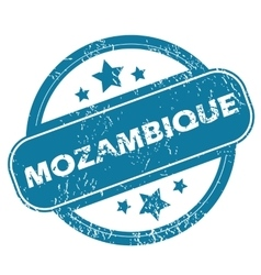Mozambique round stamp vector