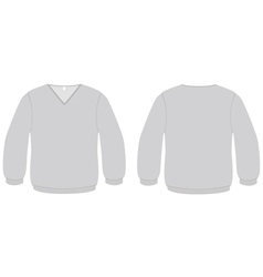 Vneck sweater template vector