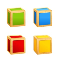 Colored wooden cubes vector