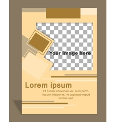 Brochure or magazine cover template vector