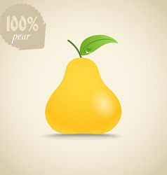 Cute fresh pear vector