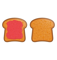 Toast with jam vector
