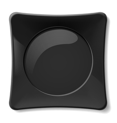 Black plate vector