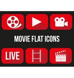Movie icons set vector