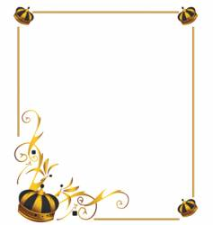 Gold crown frame vector