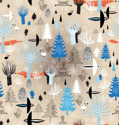 Christmas texture winter forest vector