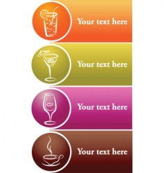 Drinks label vector