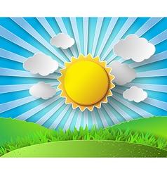 Sunlight on cloud vector