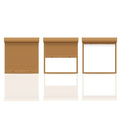 Rolling shutters 12 vector