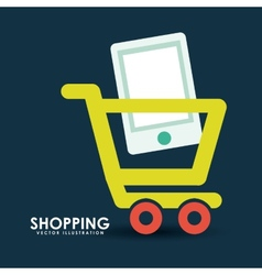 Shopping on line vector
