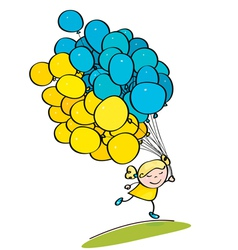 Kid balloon ukraine vector