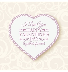 Happy valentines day - card vector