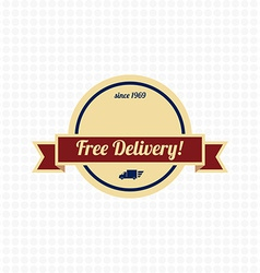 Free delivery label vector