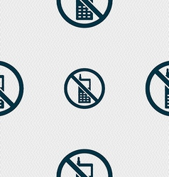 Mobile phone is prohibited icon sign seamless vector