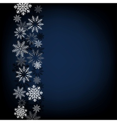 Black snow background vector