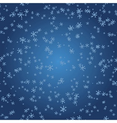 Winter pattern snowflakes on blue gradient vector