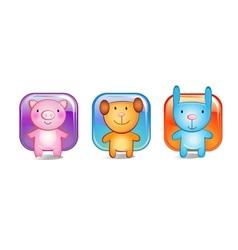 Toy animals vector