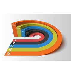 3d infographics element circle based competition vector