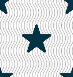 Favorite star icon sign seamless pattern with vector