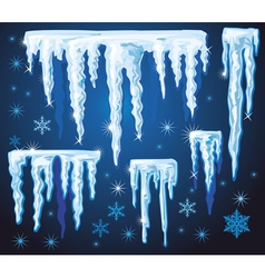 Set of icicles for design vector