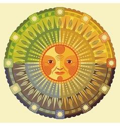 The four seasons vector