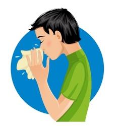 Sneezing man eps10 vector