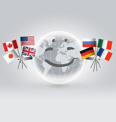 Smiling world globe vector