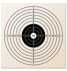 Paper rifle target vector