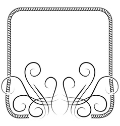 Knitting frame decorated with swirls on white vector
