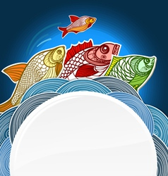 Fish menu template vector
